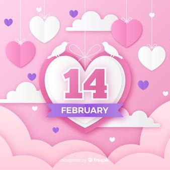 Knip de achtergrond van de Valentijnsdag uit
