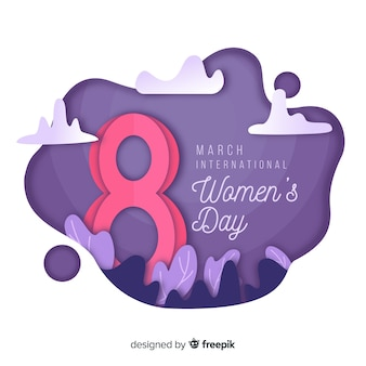 Knip de achtergrond van de vrouwendag uit