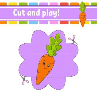 Knip en speel een spel voor kinderen