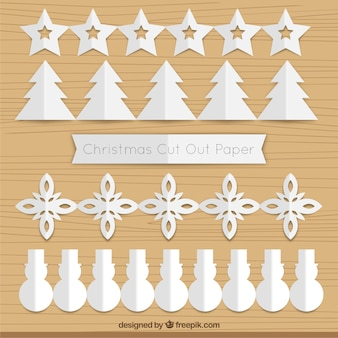 Knip papier guirlande kerst pak