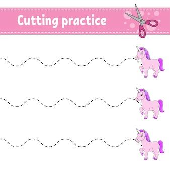 Knipoefening voor kinderen sprookjesthema