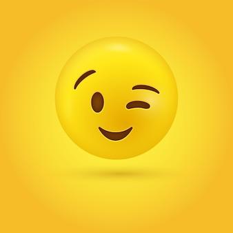 Knipogend emoji face