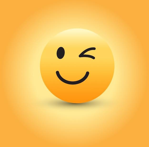 Knipogend gezicht emoji.