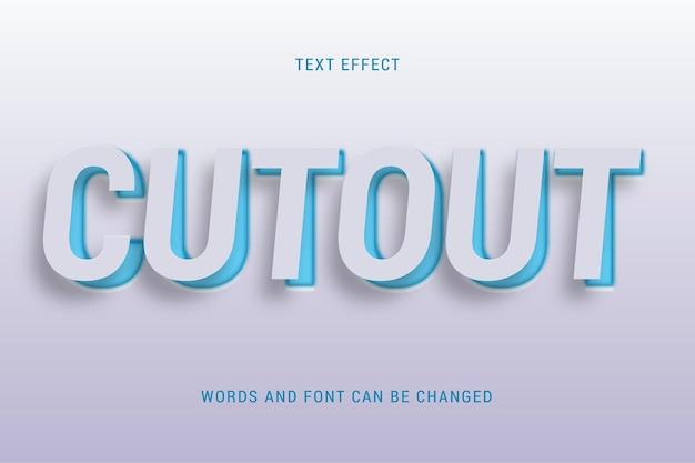 Knippapier teksteffect 100 bewerkbare vectorafbeelding