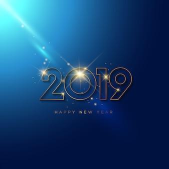 Knipperend nieuwjaarsontwerp