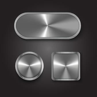 Knoop metaal zilver