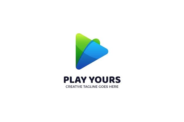 Knop logo sjabloon afspelen