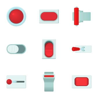 Knop set, cartoon stijl