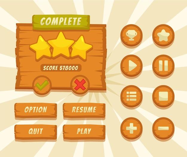 Knop set ontworpen game gebruikersinterface gui illustratie voor videospelletjes computers