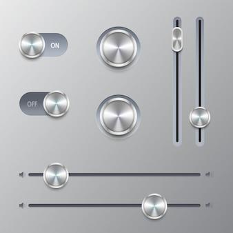 Knop volumeregeling set