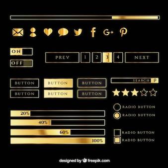 Knoppen en sociale pictogrammen voor webpage