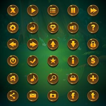 Knoppen instellen voor de gebruikersinterface van het spel