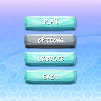 Knoppen met tekst voor games