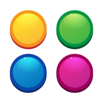 Knoppen voor game-ontwerp voor mobiele gamesui