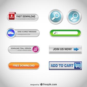 Knoppen voor het web gratis set