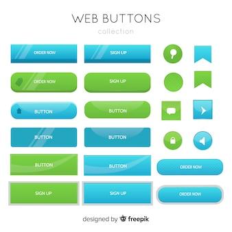 Knoppen voor het web in verloopstijl