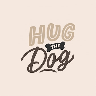 Knuffel de hond belettering