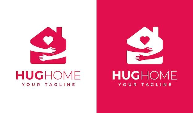 Knuffel thuis logo creatief ontwerp