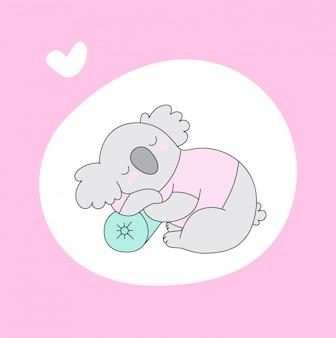 Koala baby slaap