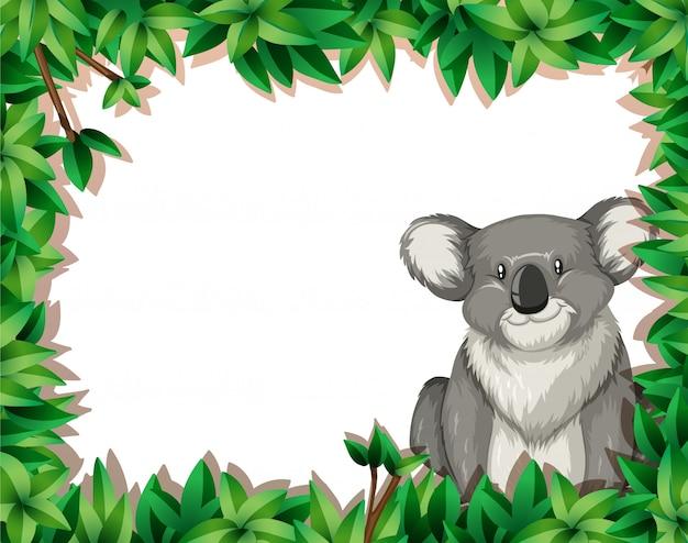 Koala op aardachtergrond