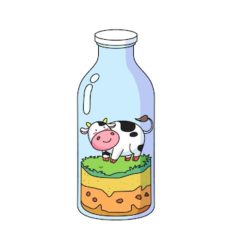 Koe in fles
