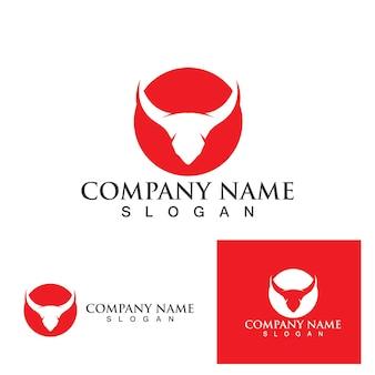 Koe logo template vector pictogram illustratie ontwerp