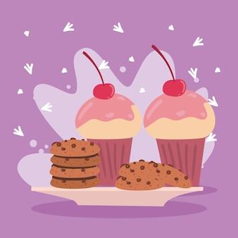 Koekjes en cupcakes