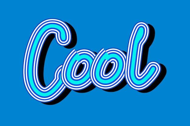 Koel blauw vintage lettertype behang