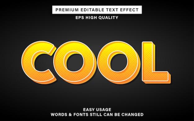 Koel geel teksteffect