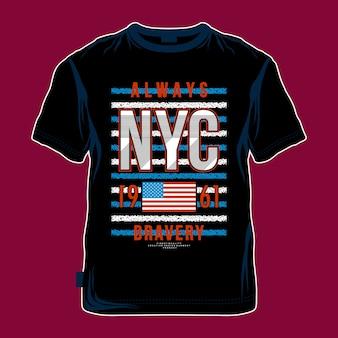 Koel grafisch de t-shirtontwerp van nyc