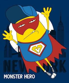 Koel monster vectorontwerp voor t-shirtdruk