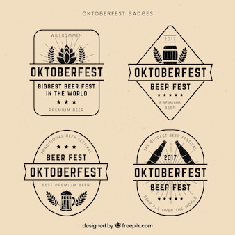 Koel pakket vintage oktoberfest badges