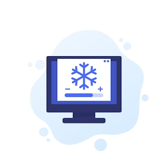 Koelbesturings vectorpictogram voor web