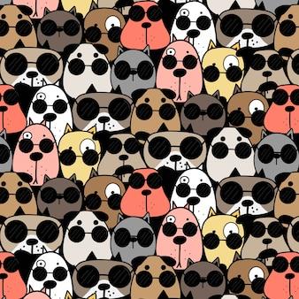Koele honden patroon achtergrond.