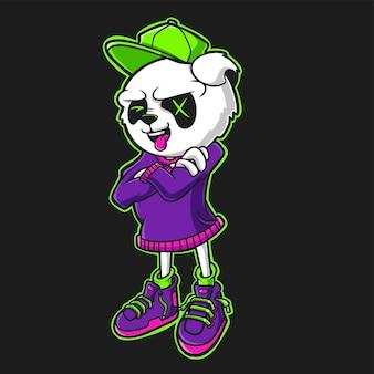 Koele panda cartoon