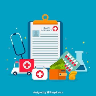 Koele samenstelling met medische voorwerpen