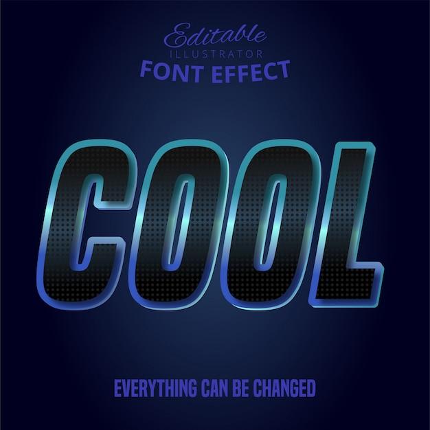 Koele tekst, bewerkbaar lettertype-effect