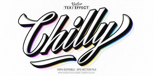 Koele tekststijl, bewerkbaar teksteffect in minimalistische stijl