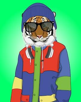 Koele tijgerillustratie