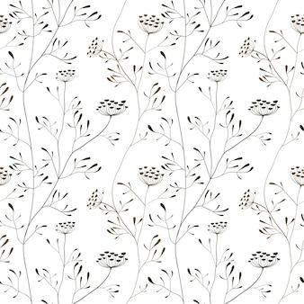 Koepastinaat naadloze patroon op witte achtergrond