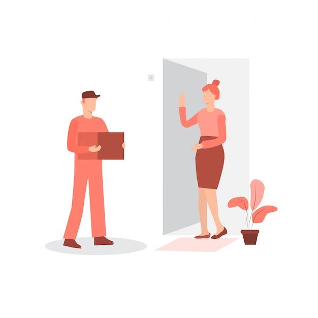 Koeriersdienst pakketbezorging aan deur