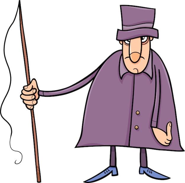 Koetsier karakter cartoon afbeelding