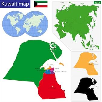 Koeweit kaart