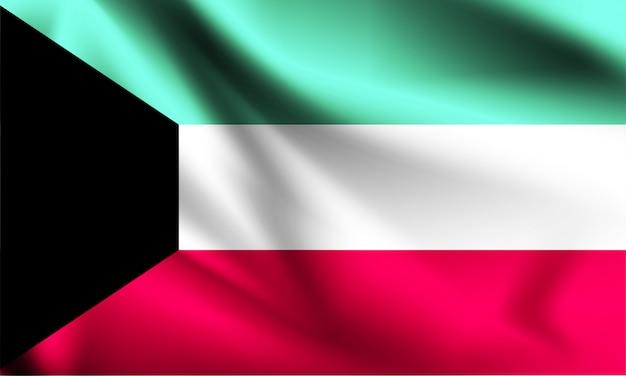 Koeweit vlag zwaaien