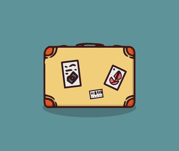 Koffer om op zomervakantie te gaan