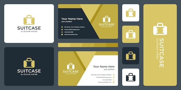 Kofferlogo en deurlogo. visitekaartje ontwerp