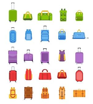 Koffers in vlakke stijl