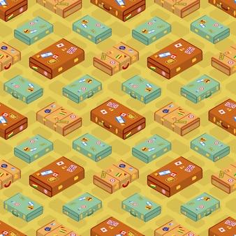 Koffers naadloos patroon.