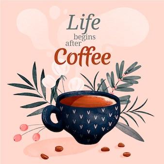 Koffie aquarel illustratie