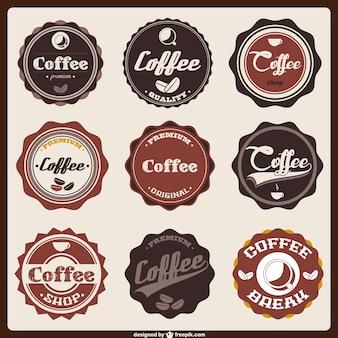 Koffie badge iconen